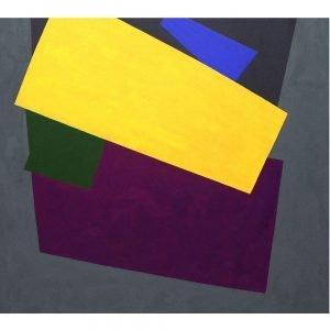 "William Perehudoff, ""AC-92-14"", 1992, Acrylic on Canvas, 52 x 58 inches - Newzones Gallery, Calgary"