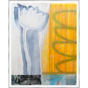 "Don Maynard, ""Late Bloom"", 2019, Mixed Media on Mylar, 44 x 35 in. - Newzones Gallery, Calgary"