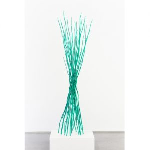 "Shayne Dark, ""Interlace Transparent Green"", 2012. Powder Coated Steel, 69 x 20 x 19 inches - Newzones Gallery, Calgary"